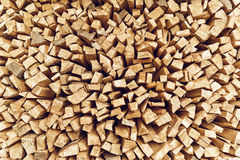 Rondins de bois de chauffage empilés Images libres de droits