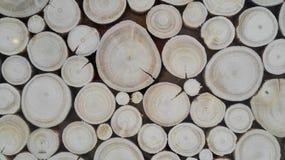 Rondins en bois de papier peint Photo libre de droits