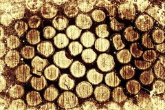 Rondins en bois de vintage photo stock