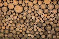 Rondins en bois empilés Photo libre de droits