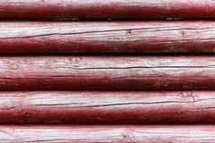Rondins en bois rouges Photographie stock libre de droits