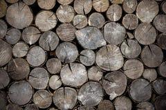 Rondins secs de bois de chauffage de fond Photo libre de droits