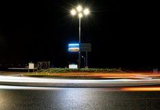 Rondo nocą Zdjęcia Stock