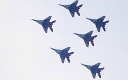 Rondoni del Russo MiG-29 Fotografie Stock