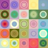 Ronds dans la configuration de blocs Photo stock