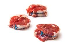 Ronds de filet de viande de chèvre Noisettes Photos stock