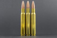 3 ronds de fusil dans une rangée Photo libre de droits