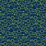 Ronds et lignes rougeoyants g?om?triques simples sur le fond fonc? r illustration de vecteur