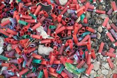 Ronds utilisés de fusil de chasse Image libre de droits