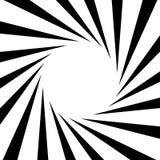 Rondschrijven, het geometrische patroon van strepenlijnen Zwart-wit illustrati stock illustratie