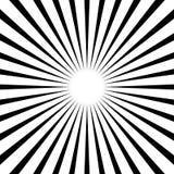 Rondschrijven, het geometrische patroon van strepenlijnen Zwart-wit illustrati royalty-vrije illustratie