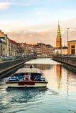 Rondvaart in het kanaal van Kopenhagen royalty-vrije stock foto's