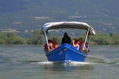 Rondvaart in Kerkini-meer, Griekenland royalty-vrije stock afbeelding