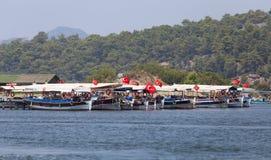 Rondvaarten in Dalyan Royalty-vrije Stock Fotografie