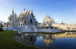 Rong Khun temple in Thailand Stock Images