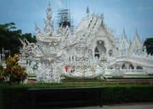 Rong Khun temple underconstruction. Rong Khun temple is underconstruction after it have been through the earthquake Royalty Free Stock Photos