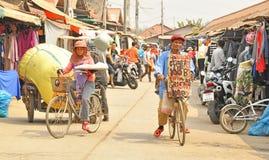 Rong Kluea market. SAKAEO, THAILAND - FEBRUARY 14 : People in Rong Kluea market on February 14, 2014 in Sakaeo, Thailand. Rong Kluea market  is renowned for Stock Image