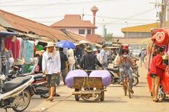 Rong Kluea market. SAKAEO, THAILAND - FEBRUARY 14 : People in Rong Kluea market on February 14, 2014 in Sakaeo, Thailand. Rong Kluea market  is renowned for Stock Photo