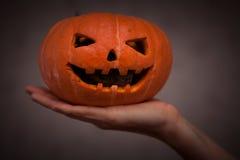 Rongeur en potiron de Halloween image libre de droits