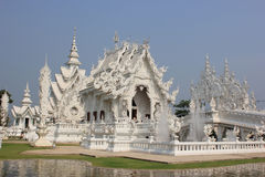 Rongkhun Temple, a famous temple in Chiangrai, Thailand. Rongkhun Temple, a famous white temple designed by Arjan Chalermchai Kositpipat in Chiangrai, Thailand Stock Image