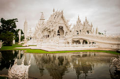 Rongkhun Temple. Mueang district, Chiangrai, Thailand Stock Photos