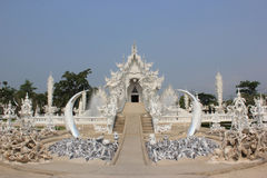 Rongkhun Temple (White Temple) in Chiangrai, Thail. Rongkhun Temple or White Temple, a famous architecture  in Chiangrai, Thailand Stock Images