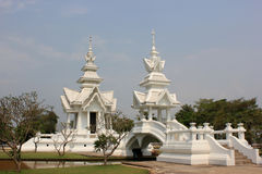 Rongkhun Temple (White Temple) in Chiangrai, Thail. Rongkhun Temple or known among foreigners as White Temple) in Chiangrai, Thailand Royalty Free Stock Photography