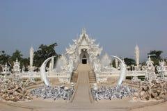 Rongkhuntempel (Witte Tempel) in Chiangrai, Thail Stock Afbeeldingen