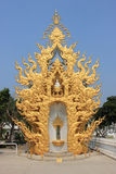 Rongkhuntempel of Witte Tempel, een beroemde tempel in Chiangrai, T Royalty-vrije Stock Afbeeldingen