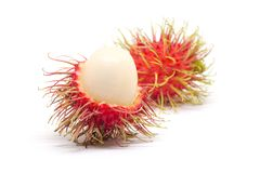 Rongrien Rambutan on white background. T in Thailand Royalty Free Stock Photography
