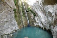 Ronies waterfalls, Lefkada. The Ronies waterfalls on the Greek island of Lefkada Royalty Free Stock Photos