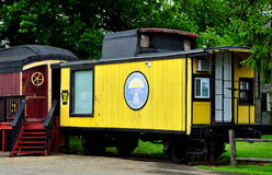 Ronks, PA: Red Caboose Motel Railroad Car Stock Photos