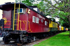 Ronks, PA: Red Caboose Motel Railroad Car Royalty Free Stock Photo