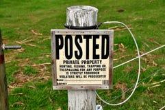 Ronks, Pennsylvania: No Trespassing Sign Stock Image