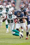 Ronnie Brown Miami Dolphins imagens de stock