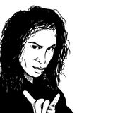 Ronnie James Dio. A vector clip art illustration of musician, Ronnie James Dio (Deceased Royalty Free Stock Image