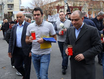 Ronnie O'Sullivan. England's Ronnie O'Sullivan ( holding flag ) visited Colectiv Club in Bucharest, Romania, Sunday, 22 November 2015, to pay tribute to victims Royalty Free Stock Photo