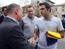 Ronnie O'Sullivan. England's Ronnie O'Sullivan ( R ) visited Colectiv Club in Bucharest, Romania, Sunday, 22 November 2015, to pay tribute to victims who died in Stock Photos