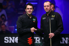 Ronnie O'Sullivan and Mark Williams Royalty Free Stock Images