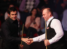 Ronnie O'Sullivan and Stuart Bingham Royalty Free Stock Photography