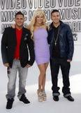 Ronnie Ortiz-Magro, Jenna Jameson and Vinny Guadagnino Royalty Free Stock Photos