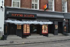 Ronnie Scott's jazz club Royalty Free Stock Photos