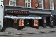 Ronnie Scott's jazz club Royalty Free Stock Photos