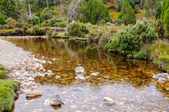 Ronny Creek - Cradle Mountain. Ronny Creek crossing in the Cradle Mountain-Lake St Clair National Park - Tasmania, Australia royalty free stock images