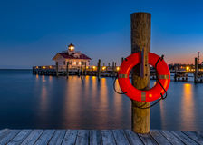 Ronoake Sound, Roanoke Lighthouse, Outer Banks, NC Royalty Free Stock Photography
