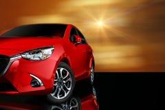 ront Samochodowy czerwony kolor na czarnym tle dla klientów obrazy royalty free