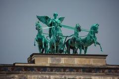 Ronzebeeldhouwwerk Victoria, Roman Goddess van Overwinning Stock Foto
