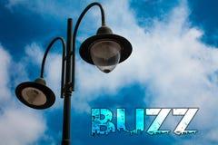 Ronzio del testo di scrittura di parola Concetto di affari per il Cl nuvoloso blu della posta della luce del carillon di Ring Sib Royalty Illustrazione gratis