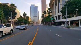 Rooad in Los Angeles de stad in Stock Foto