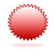 Rood 3d etiket vector illustratie